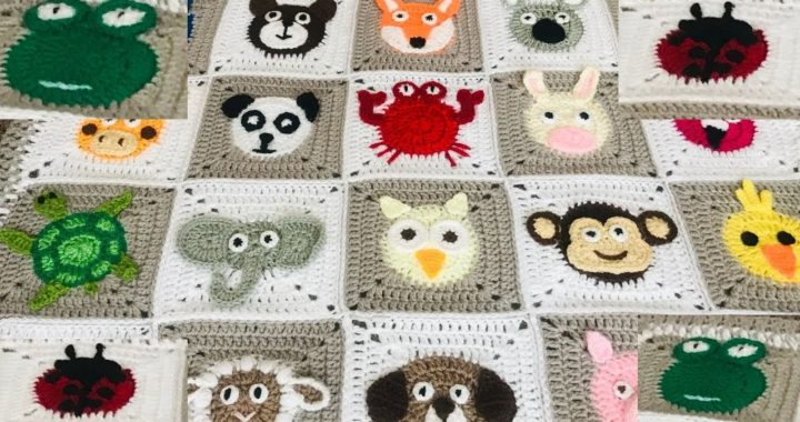 crochet Animal blanket/ Crochet frog/crochet ladybird/ladybug/Part:3