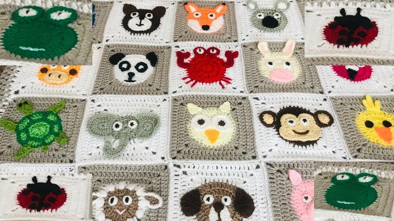crochet Animal blanket/ Crochet frog/crochet ladybird/ladybug/Part:3