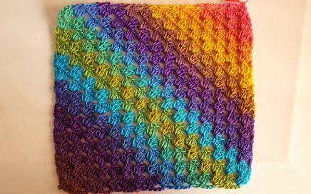 cuadro facil a crochet tejido en DIAGONAL  / CROCHET GANCHILLO 😍😍👍👍