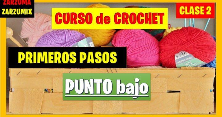 🎁curso BASICO  tutorial PUNTO BAJO a CROCHET🎁 curso para principiantes DESDE cero #crochet