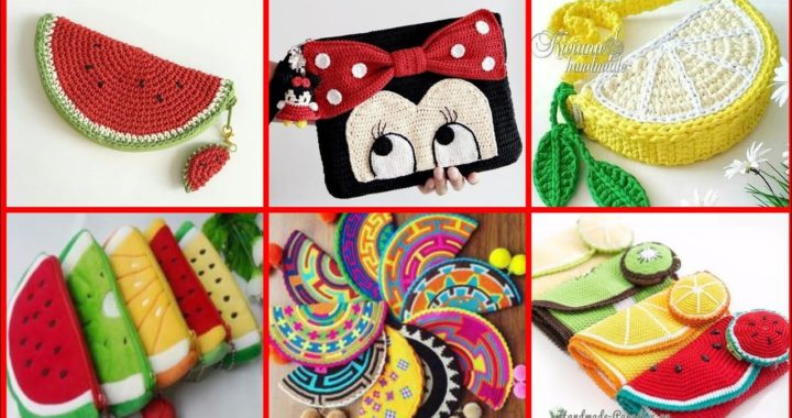 different crochet fruits patterns and granny square motifs ideas