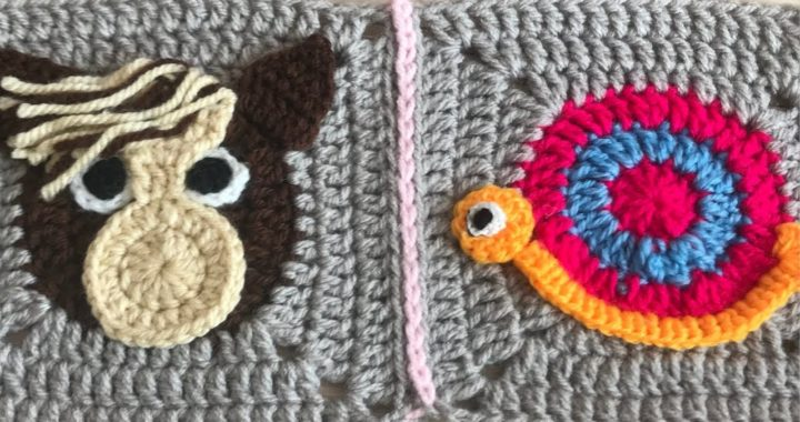 how to join granny squares. /  flat slip stitch join / solid granny squares/Animal blanket/Part:2