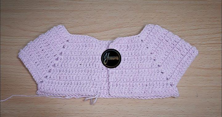 কুশিকাটার কাজ// কুশির বেবিদের স্কয়ার নেক টিউটোরিয়াল // How to make crochet square neck tutorial.