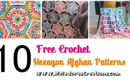 10 Free Crochet Hexagon Afghan Patterns