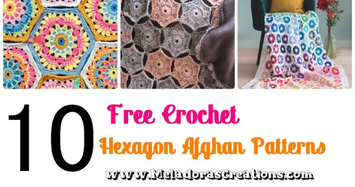 10 Free Crochet Hexagon Afghan Patterns