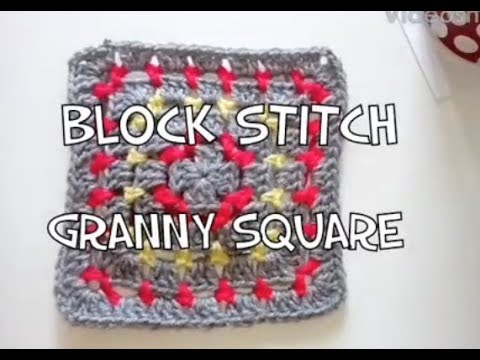 #141 - Block Stitch Granny - 2018 Granny Square CAL