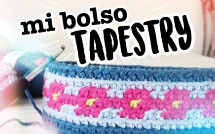 MI BOLSO TAPESTRY a CROCHET (NUEVO RETO 2019!) | Clase 2 | Ahuyama Crochet