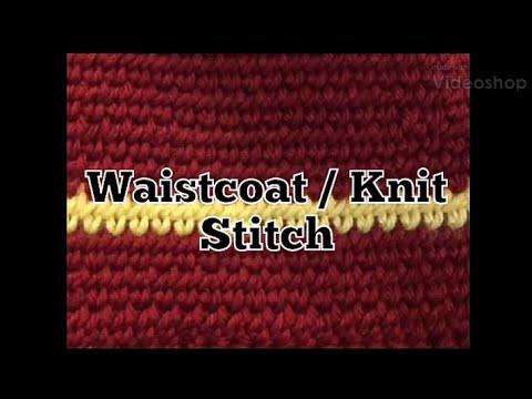 #292 - Waistcoat / Knit Stitch - 2018 Granny Square CAL