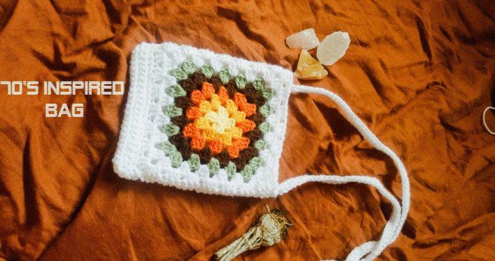 70s Inspired Granny Square Bag