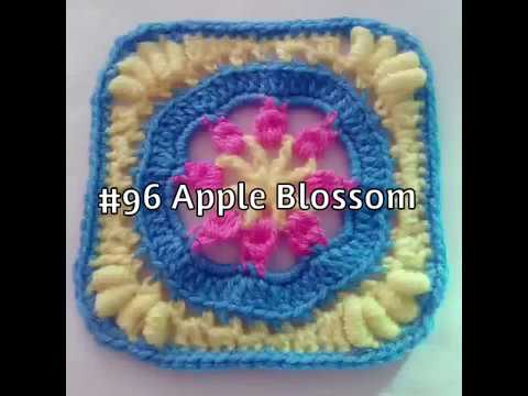 #96 Apple Blossom Time - 2018 Granny Square CAL