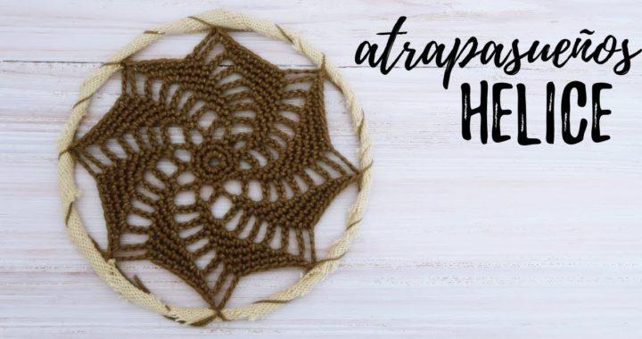 ATRAPASUEÑOS DE HELICE A CROCHET   #JardinDeAtrapasueños   Ahuyama Crochet