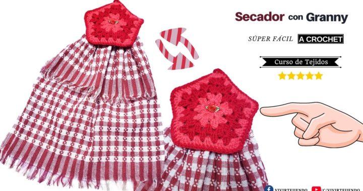 🌈 Aplicación Secador a Crochet con Granny Fácil y Rápido ✅ Tejidos Fáciles a Crochet