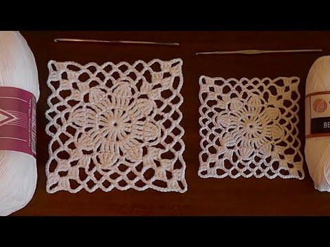 Aprende a tejer 🧶 un cuadrado en crochet de la manera más fácil,rápido y sencilla 🧵