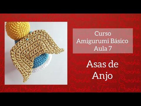 Aula 7 - curso amigurumi básico - asas de anjo de natal