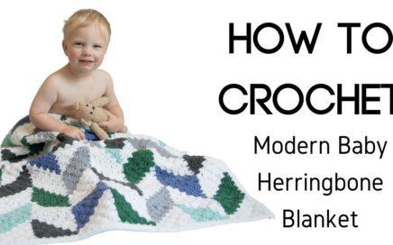 Baby Herringbone Blanket - Corner-to-Corner Join as you go