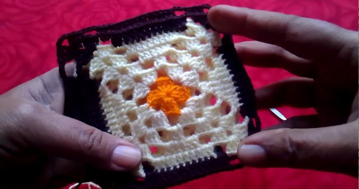 Beautiful Crochet Granny Square Design Pattern for Bed Sheet Afghan Blanket Crochet Tutorial