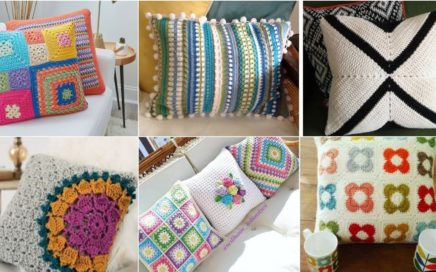 Beautiful crochet knitting granny square cushions designs and pattern with new fashion 2021
