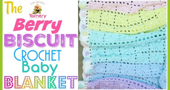 Berry Biscuit Baby Blanket | Step By Step Crochet Blanket Patterns | Secret Stitches CAL 2021