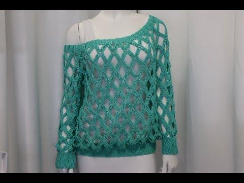 Blusa Crochet talla S-M