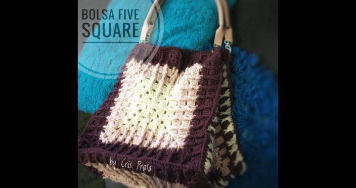 Bolsa 5 Squares fácil de crochê by Cris Prata