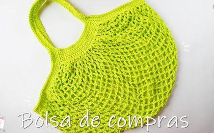 Bolsa de compras tejida a crochet | ganchillo