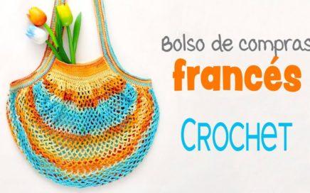 Bolso de compras FRANCÉS tejido a crochet / Tejiendo Perú