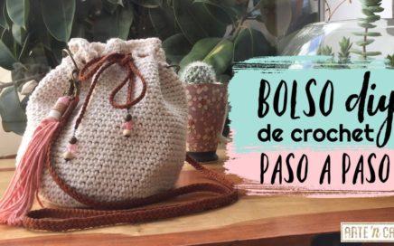Bolso fácil de crochet paso a paso
