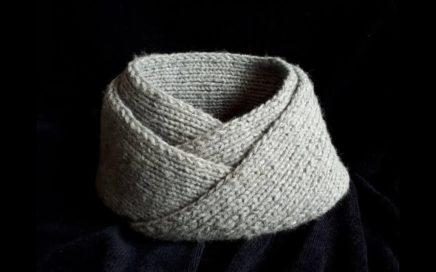 Bufanda infinita  / Cuello para hombre facil y rapido tejido en dos agujas - punto moebius
