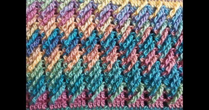 Bufanda infinita a crochet Paso a paso / punto diagonal a crochet / crocheted scarf