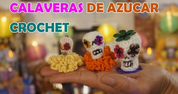 CALAVERAS DE AZUCAR CROCHET FÁCIL