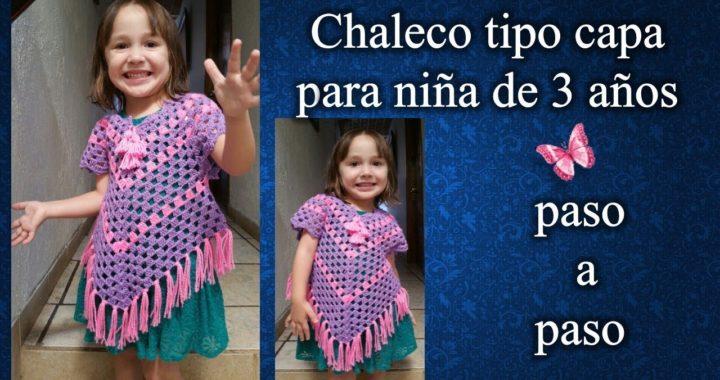 CHALECO NIÑA 2 A 3 AÑOS en crochet PASO A PASO