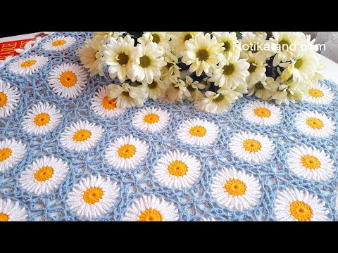 CROCHET EASY Crochet Granny Square Motif #4 How to join motifs