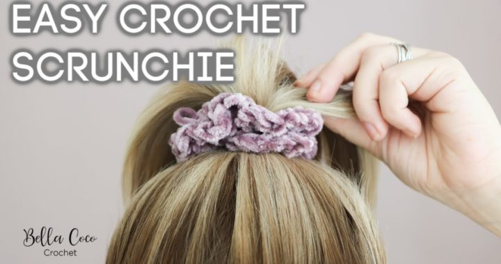 CROCHET: EASY VELVET SCRUNCHIE | Bella Coco Crochet