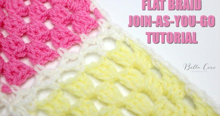 CROCHET: Flat Braid Join-As-You-Go Tutorial | Bella Coco