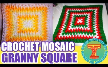 CROCHET MOSAIC GRANNY SQUARE | easy Crochet patterns| Fashion crafts with Tzai