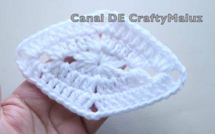 CROCHET TUTORIAL 🔷Aplicación de crochet 🔶Diamante a crochet muy fácil de hacer (Motivo a crochet)