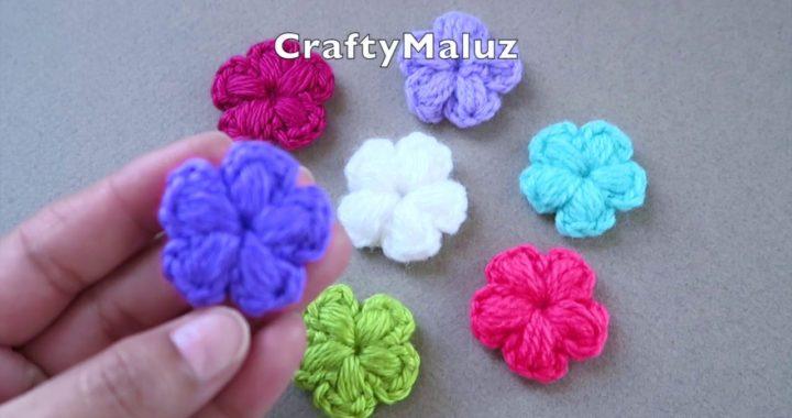 CROCHET TUTORIAL : Como hacer una flor puff a crochet | Flor tejida en punto Puf