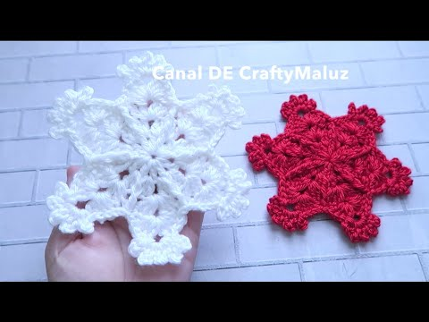 CROCHET TUTORIAL❄️ Copo de Nieve tejido a crochet muy fácil 👍  ( Adornos Navideños🎄)