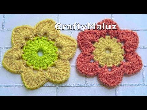 CROCHET TUTORIAL : Flor Tejida Fácil paso a paso | Aplicación a Crochet