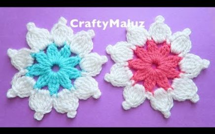 CROCHET TUTORIAL : Flor Tejida muy Fácil  | Aplicación de Crochet