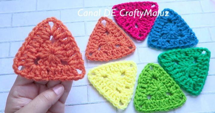CROCHET TUTORIAL Mini triángulo a crochet muy fácil (Aplicación de crochet fácil)