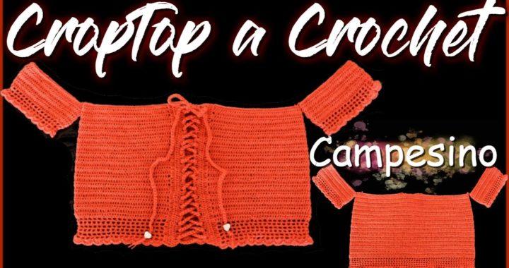 CROP TOP TEJIDO A CROCHET | PASO A PASO | BLUSA ESTILO CAMPESINA | NIRVANA CROCHET | REF .#04