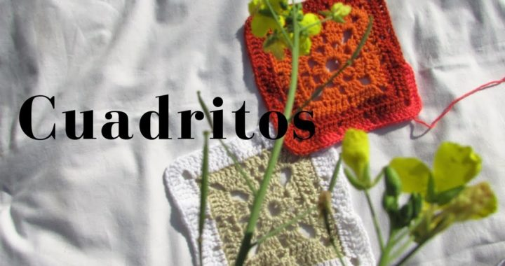 CUADRADOS tejidos muestras - otro diseño -  Ideal para principiantes -Modo Magda