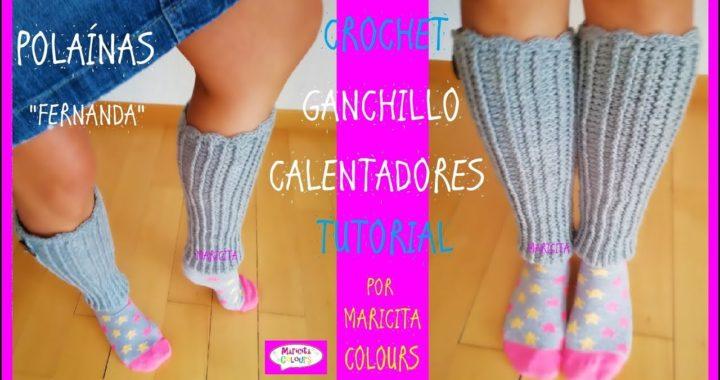 "Calentadores a Crochet Polainas ""Fernanda"" por Maricita Colours"