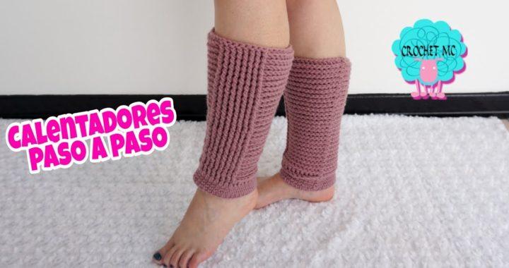 Calentadores a crochet - paso a paso