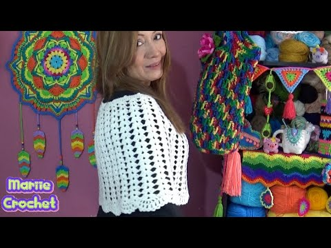 Capa de Fiesta tejida a crochet paso a paso MUY FACIL!