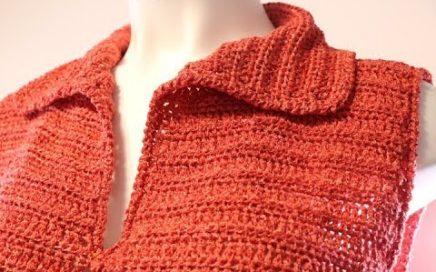 Chaleco Crochet Extra Grande con Cuello