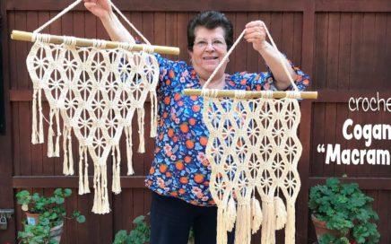 Colgante imitación MACRAMÉ tejido a crochet 😁 / Tejiendo Perú