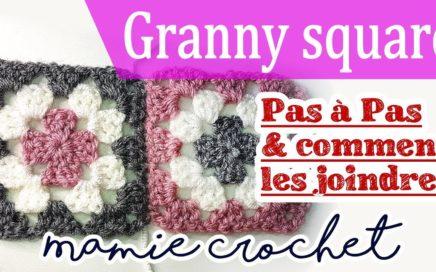 Comment faire des Carrés granny square, facile au crochet et comment les assembler