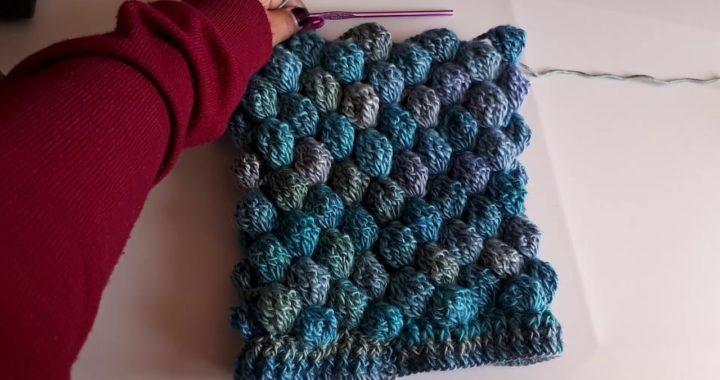 Como hacer Gorroa crochet o ganchillo paso a paso fácil y rápido - punto puff en 3D